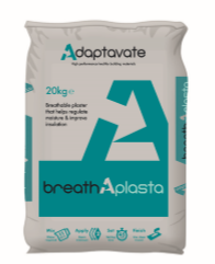 Adaptavate Breathaplasta insulating lime plaster
